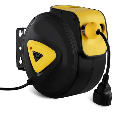 Enrouleur Câble Électrique Dévidoir Enrouleur Rallonge 10 + 1 5 M Automatique