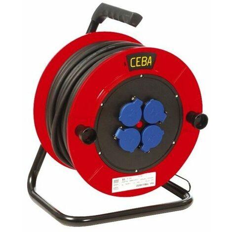 Enrouleur cable h07rnf+disjoncteur 4 prises 25 m 3 x 2.5 mm