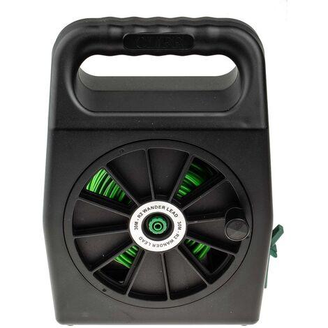 Enrouleur cordon de test Vert, 50m, Connecteurs 4mm, CAT II 1000 V