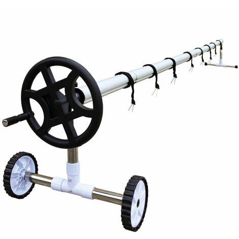 Enrouleur de bâche à bulles extensible de 1m à 6.40m + Pinces - Linxor