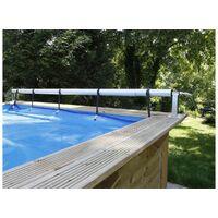 Enrouleur de bâche à bulles Premium pour piscine hors-sol ou enterrée jusqu'à 5,55 m - Ubbink