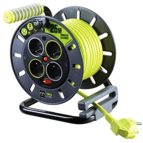 Enrouleur de câble 4 prises Pro XT 40 mètres