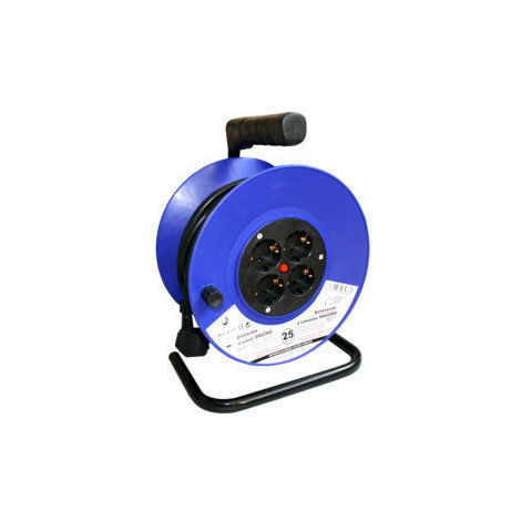 Enrouleur de câble 50 mts. 3 x 1.5 MM Inclus thermostat de sécurité. 36,315 Electro DH Electro DH 843055552085163