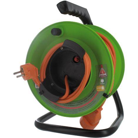 Enrouleur de câble électrique 2 x 1,5 mm²  - Dhome