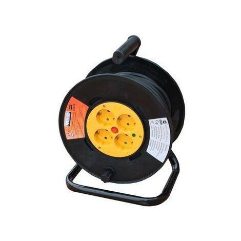 Enrouleur de câble électrique 4 prises 5m Protec. Thermique