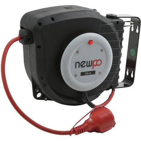 Enrouleur de câble électrique | Longueur du câble 15 m - | newpo