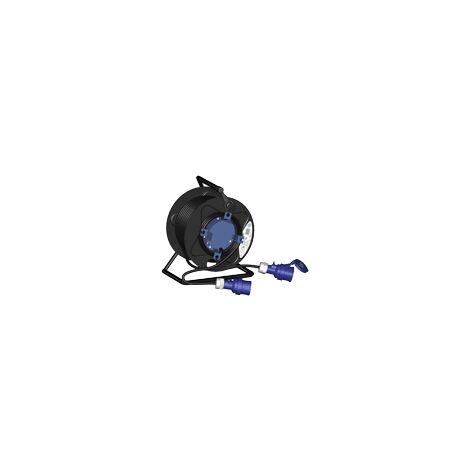 Enrouleur de câble H07VRNF fiche + embase 2P 30m noir SOLERA 75562