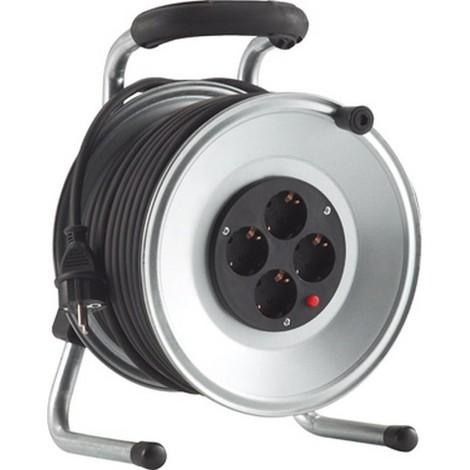 Enrouleur de cable métal IP20 50m H05RR-F 3G1,5