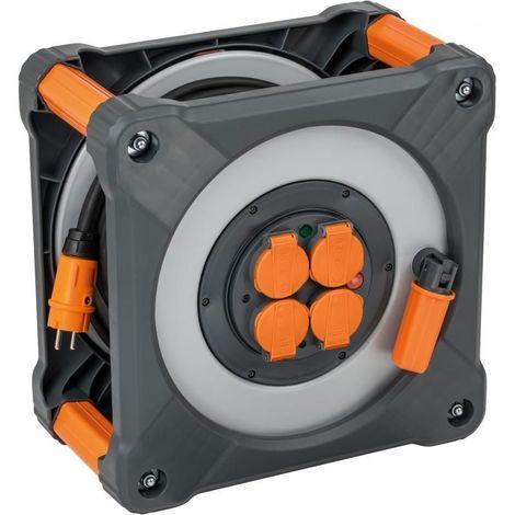 Enrouleur de câble multiprises Cube IP44 H07RN-F 3G2,5 25 mètres