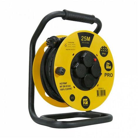 Enrouleur de câble PRO 25 mètres normes H07RNF et IP44 WILMART
