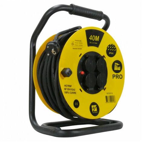Enrouleur de câble PRO 40 mètres normes H07RNF et IP44 WILMART
