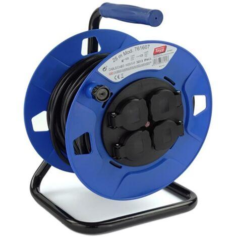 Enrouleur de c�ble �lectrique 4 prises Tt Thermostat 3X1,5Mm 25Mt 3000W 265Mm Tayg