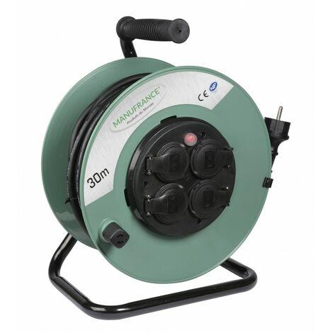Enrouleur de chantier 30m 210 mm Vert - Vert