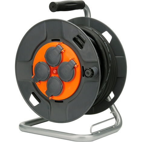 Enrouleur de chantier IP44 - 4 prises 16A - 3G1,5mm² - 25 ou 40m