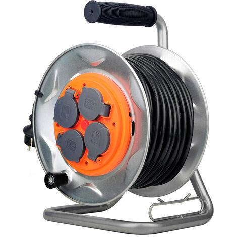capacité 50 m Brennenstuhl Enrouleur de câble vide Standard S tambour avec...