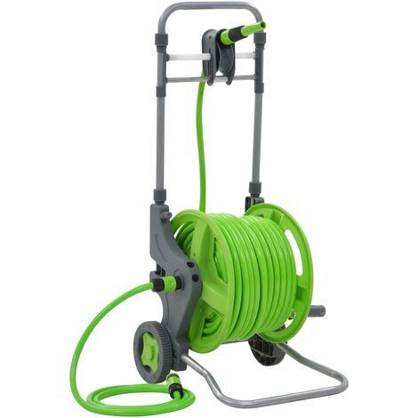 Enrouleur de tuyau avec roues 45+2 m Matériel de jardin