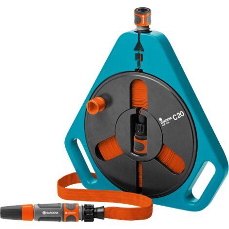 Enrouleur de tuyau darrosage 1/2 pouces GARDENA 00756-20 15 m gris, noir, orange