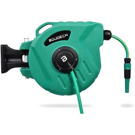 Enrouleur de tuyau d'arrosage automatique équipé d'un pivot de jardin et enrouleur avec pompe de