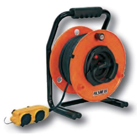 Enrouleur électrique 25 M 230V 3500W de 3 x 2,5mm2 H07 RN-F - ENR77315 - Alsafix