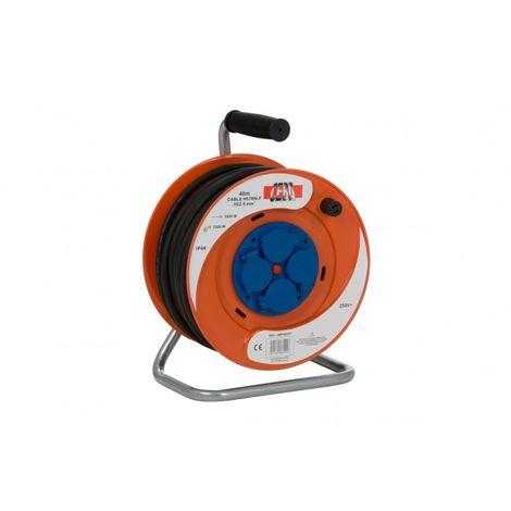 Enrouleur électrique 4 prises - 20m de câble HO7RNF 3G2,5 - Ceba - IBP20257