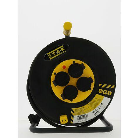 Enrouleur Electrique - 4 prises - H07RNF - 3G2.5mm² - 25M - NF,CE IP44 - Velamp