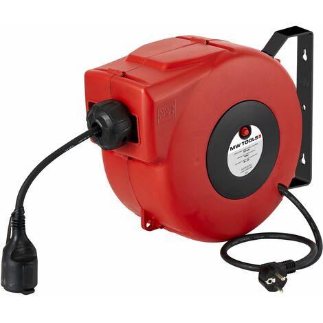 Enrouleur électrique automatique compact pro 8m - 3x1,5 mm² MW-Tools HAE31508N