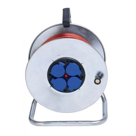 Enrouleur électrique métallique 4 prises - 33m de câble HO7RNF 3G2,5 - Ceba - CYBER33257