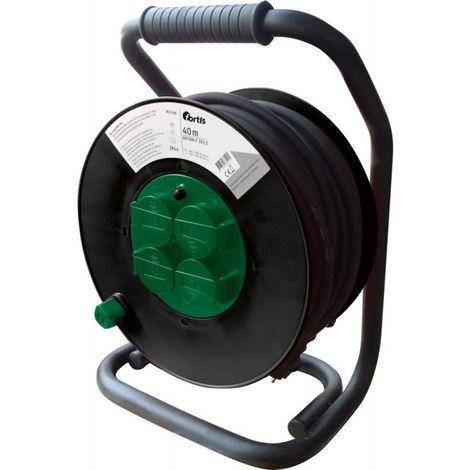 Enrouleur électrique plastique 40m H07RN-F3G1,5 FORTIS