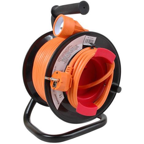 ENROULEUR JARDIN HO5VV-F 3G1.5 25M ORANGE