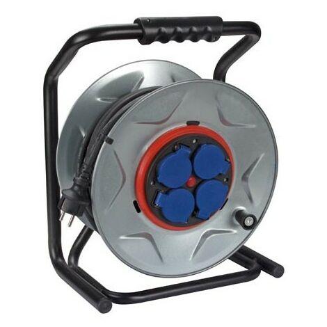 Enrouleur Professionnel Avec Système Anti-Rotation - Câble En Néoprène - 25 M - 3G2.5 - 4 Prises