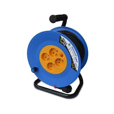 Enrouleur rallonge electrique 25 m 4 prises 25M - 3g1.5