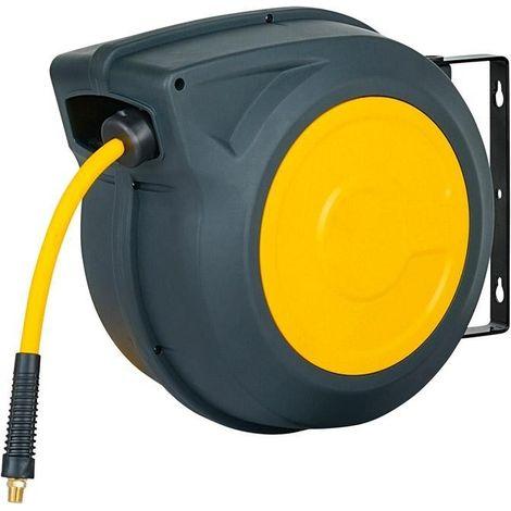 Enrouleur tuyau 20m jaune Air 3/8