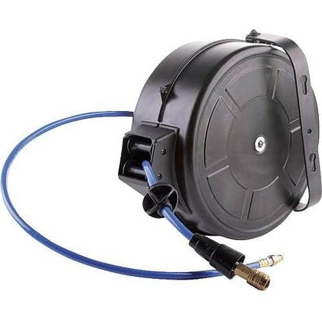 Enrouleur tuyau pneumatique retour automatique lg flexible : 18 m - diam 10/15