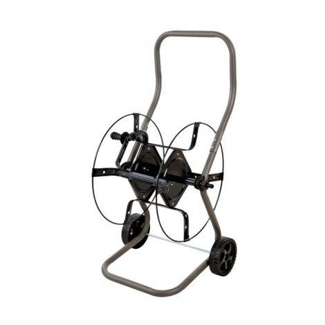 Enrouleur Vénus pour tuyaux, capacité 70 m, dévidoir métallique sur roues Ø 150 mm, poignée ergonomique
