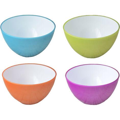 Ensaladera o Bol Reutilizable, 4 colores a elegir. Moderna y Original. Ideal para interior/exterior.- Hogar y más Naranja