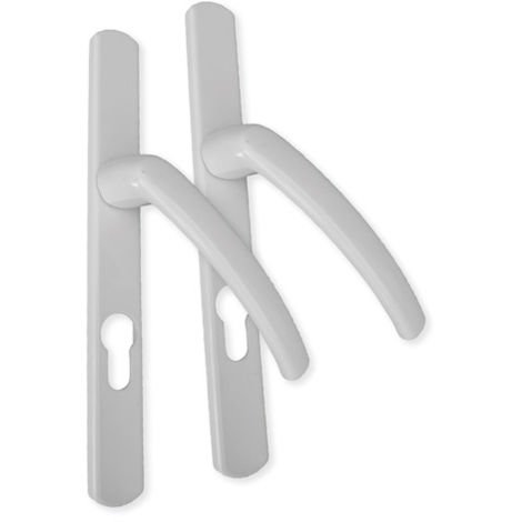 Ensemble alu plaque étroite fondu Ovalfiliz PRODIF - 25 mm - clé i - blanc - 58/70V5x80 C7x115 - 674863