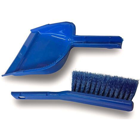 Ensemble balai brosse de ménage d'intérieur | Pelle + balayette vinyle - Quantité x 1 - Kit | 1/2 tête + pelle + balayette