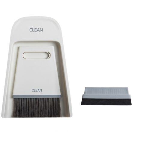 Ensemble balai et pelle à poussière combinaison ménage cheveux doux petit balai magique pour balayer l'essuie-glace de bureau pour gratter (jaune