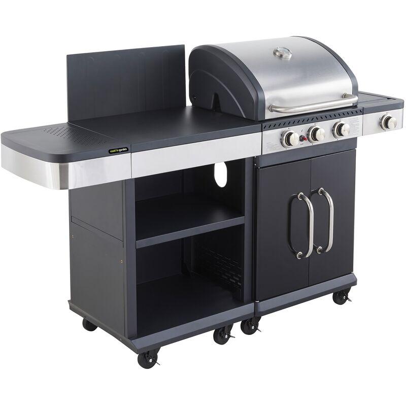 Cook'in Garden - Ensemble Barbecue gaz et desserte FIDGI 3