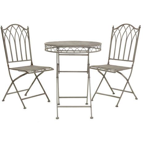 Table rectangulaire/4 chaises Bleu Marine Salon de Jardin ...