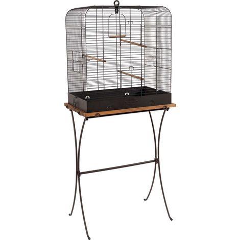 Ensemble Cage Rétro Pour Oiseaux Madeleine Avec Pieds