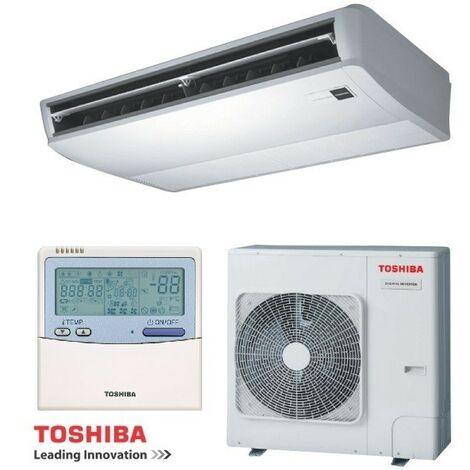 Ensemble climatisation 10KW console plafonnier reversible monosplit tri 380V Digital Inverter TOSHIBA