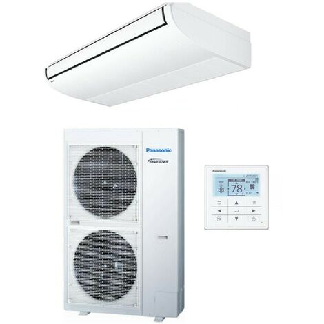 Ensemble climatisation console plafonnier 14kW inverter triphasé 380V mono-split R410A PACi Elite PANASONIC KIT-140PT2E8D