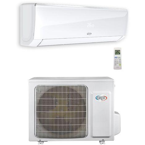Ensemble climatisation monosplit 2.5KW DC inverter 9000BTU mural blanche gaz R32 (UE+UI) ARGO ECOLIGHT9