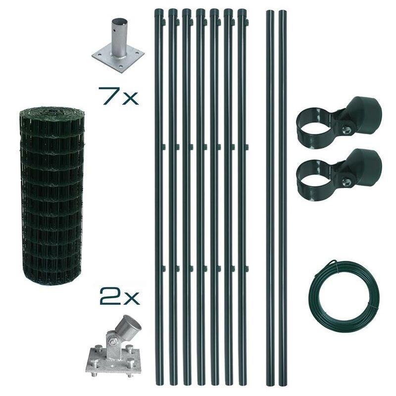 Ensemble complet de clôture en treillis soudé Ensemble de clôture de 0,8 x 10 m