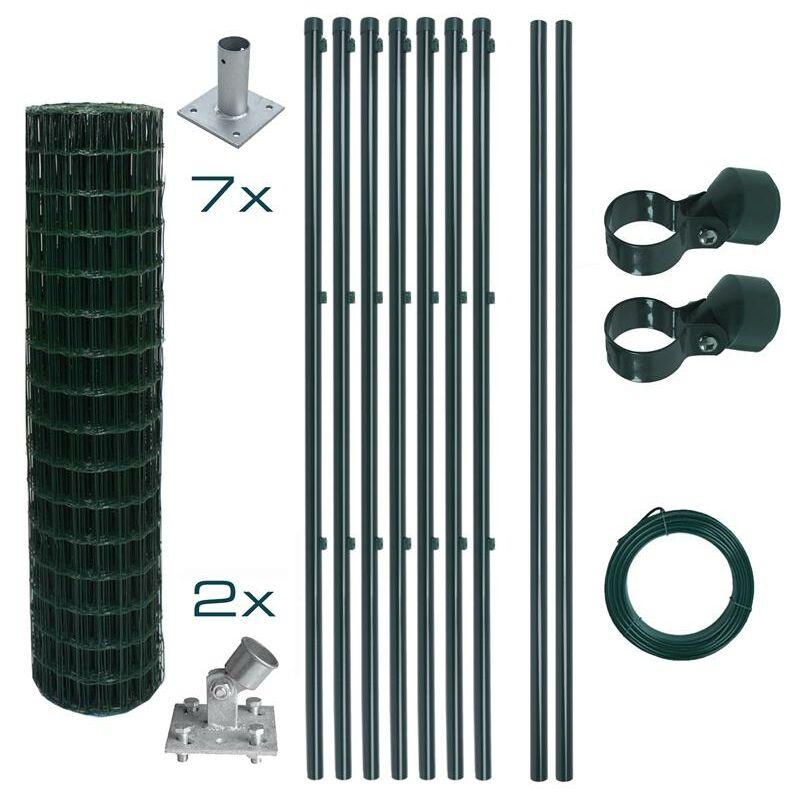 Ensemble complet de clôture en treillis soudé Ensemble de clôture de 1,2 x 10 m