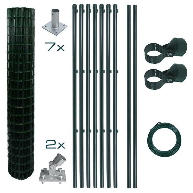 Estexo - Ensemble complet de clôture en treillis soudé Ensemble de clôture de 1,5 x 10 m