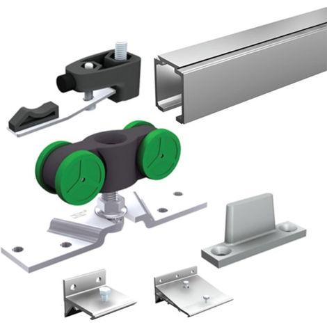 Ensemble complet MANTION pour portes 40kg (1 garniture SAF40A+5 supports 11013+ rail 1108 L.2 m) - SAF40A-200
