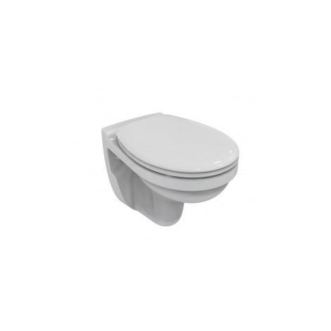 Ensemble Cuvette WC Suspendue Ulysse Porcher + abattant blanc Menton Siamp