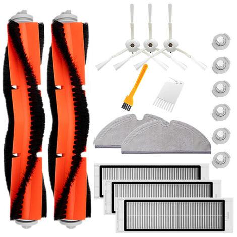 Ensemble d'accessoires Mi Sweeper Convient pour robo rock, serie S, serie T 2 brosse principale + 3 tamis filtrant + 3 trois griffes + 2 vadrouille + 6 noyaux d'eau + 1 brosse jaune + 1 couteau rouge